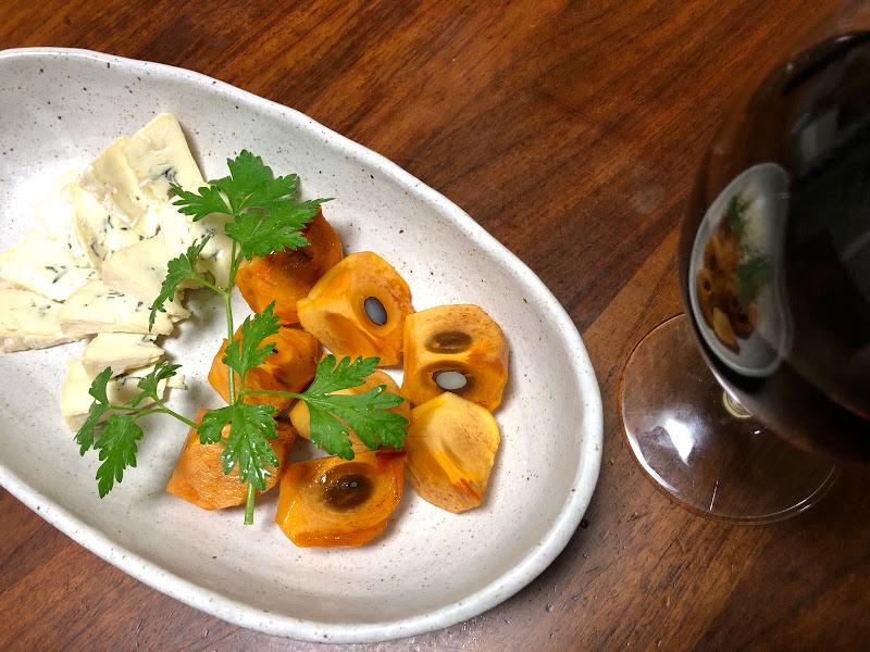 柿 ブルーチーズ